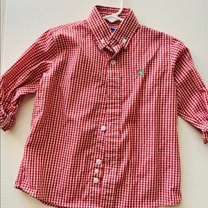 J.Bailey 2T red and White Button Down Shirt